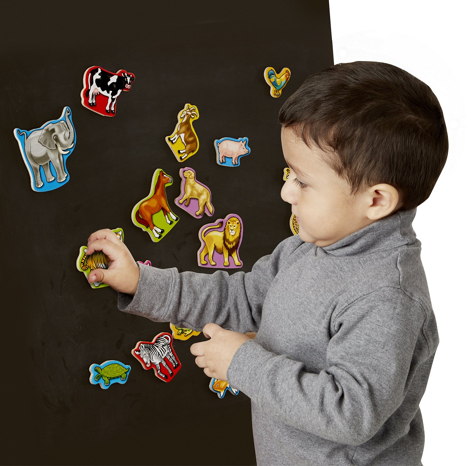 Animals and Dinosaurs With 40 Wooden Magnets Melissa /& Doug Wooden Magnets Set