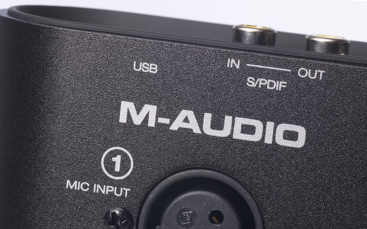 M Audio Track Plus Two Channel Portable Usb And S Pdif Monitor Midi Interface With Digital I O Ignite By Air Pro Tools Musical Instruments