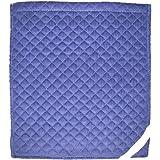 防災頭巾用 コール天カバー大ブルー 座布団式 約32×36cm  417-01