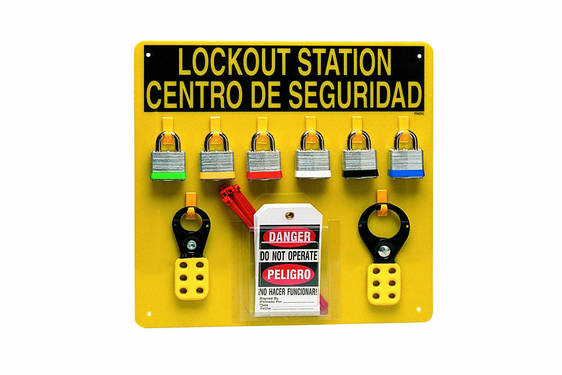 Brady LC211G Prinzing Lockout Center Bilingual (1 Each)