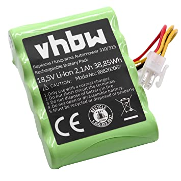 vhbw Li-Ion batería 2100mAh (18.5V) para cortacésped Robot cortacésped Husqvarna Automower 310 Modell 2015, 310 Modell 2016, 310 Modell 2017: Amazon.es: ...