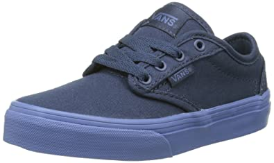 3fcfc334240 Vans Atwood Kid s youth Shoes (Check Liner) Dress Blue Sneakers (10.5)