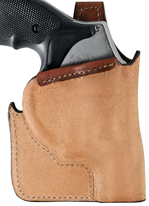 Bianchi 152 Pocket Piece Pocket Holster Ruger LCP, Kel-Tec P3AT, P32  Leather Brown