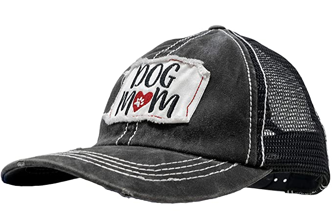 0f0df0cbf6b BH-200-2-DM64.MB06 Baseball Hat - 2 PK: Dog Mom (Burgundy) MAMA BEAR  (Black) at Amazon Men's Clothing store: