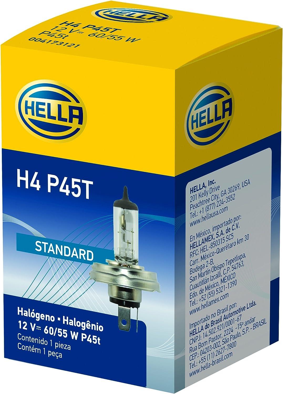 Hella H4 P45t Standard Halogenlampe 12 V 60 55 W Auto