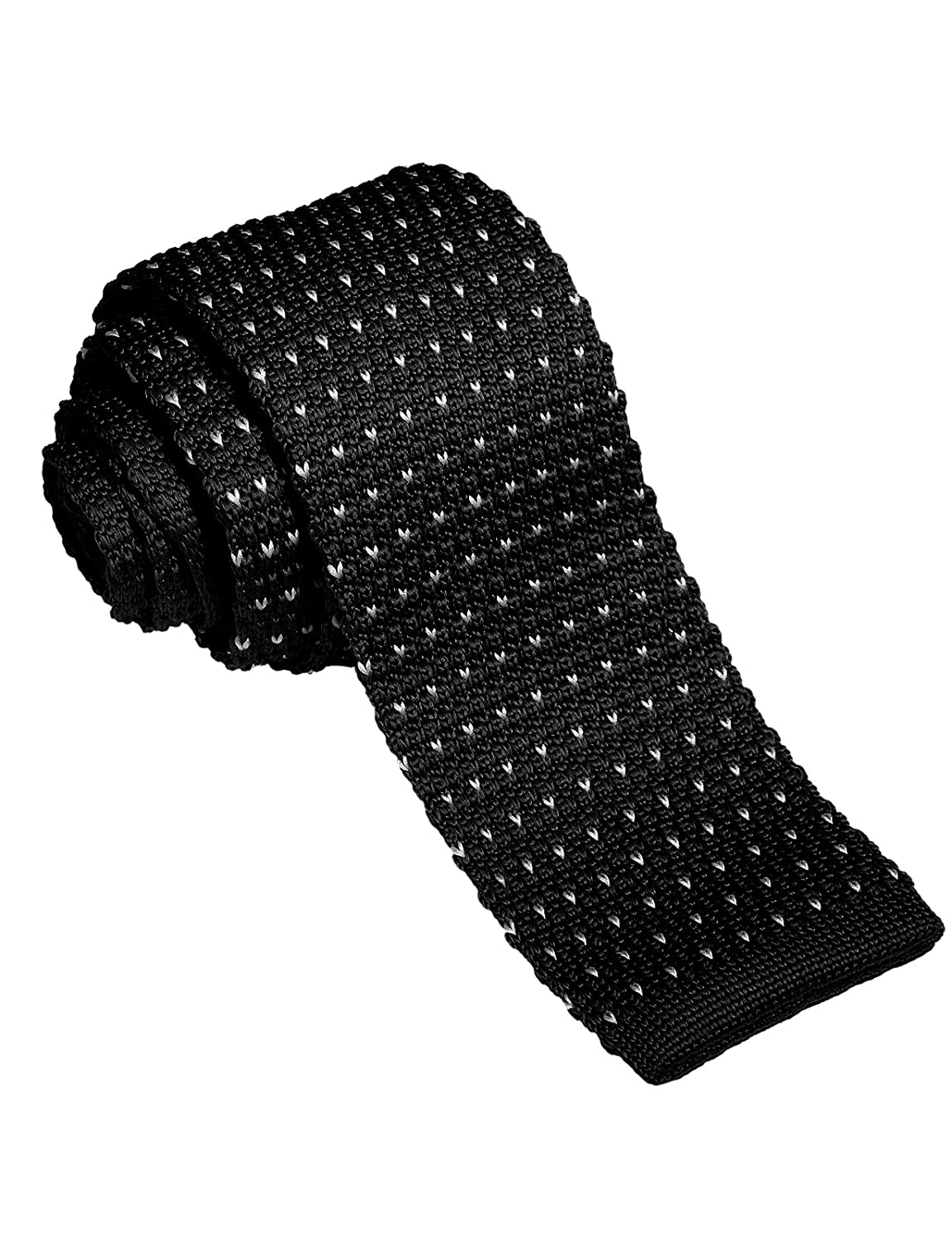 H2H Mens Casual Heart Patterned Knit Neck Tie BLACK (KMANT06) at ...