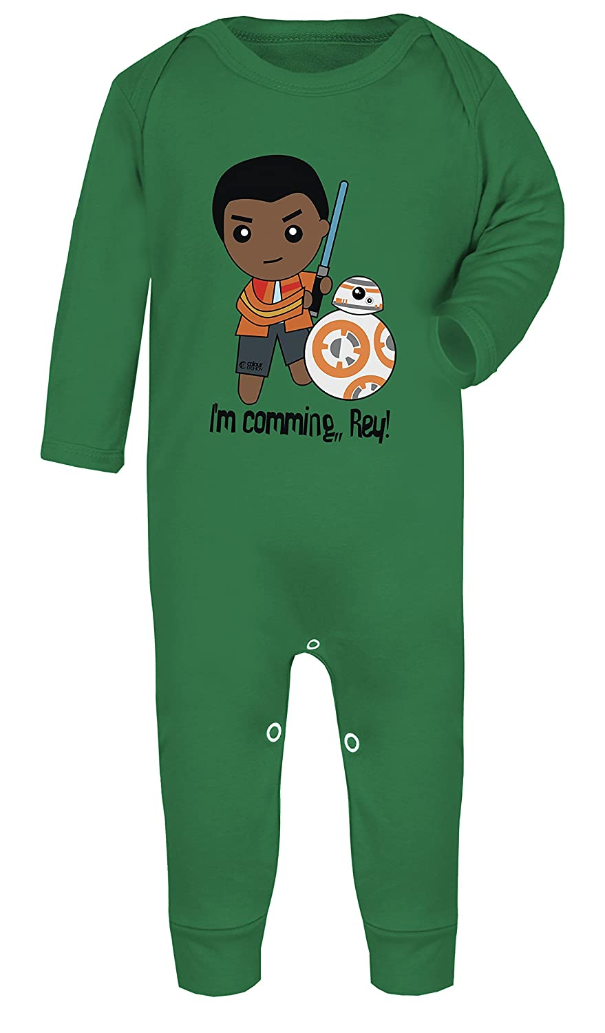 Star Wars Finn and BB-8 Im Comming Rey Print Baby Footed Pajamas Hypoallergenic