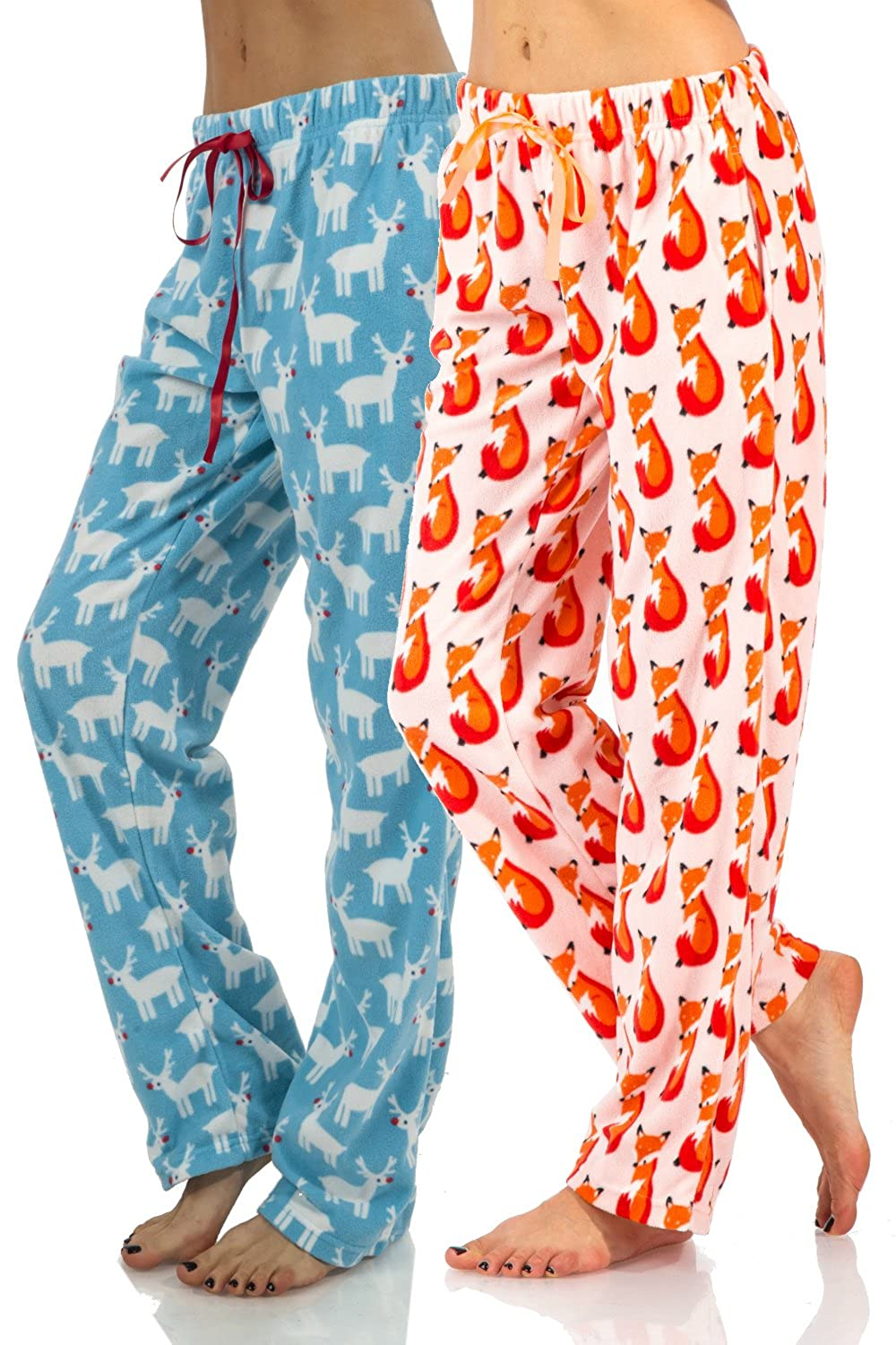 Ashford & Brooks Women's Plush Microfleece Pajama Sleep Pants 2 Pack
