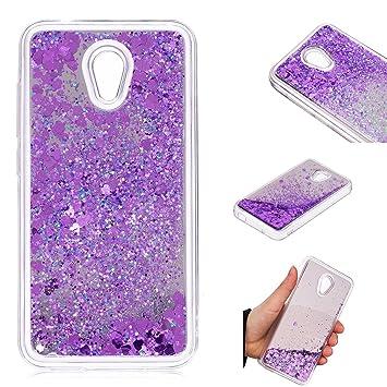 buy popular 81cf3 fff8b BoxTii Alcatel U5 (3G) Case [with Free Tempered Glass Screen Protector]  Glitter Liquid Mirror Case for Alcatel U5 (3G) 4047D 4047, Shiny Protective  ...