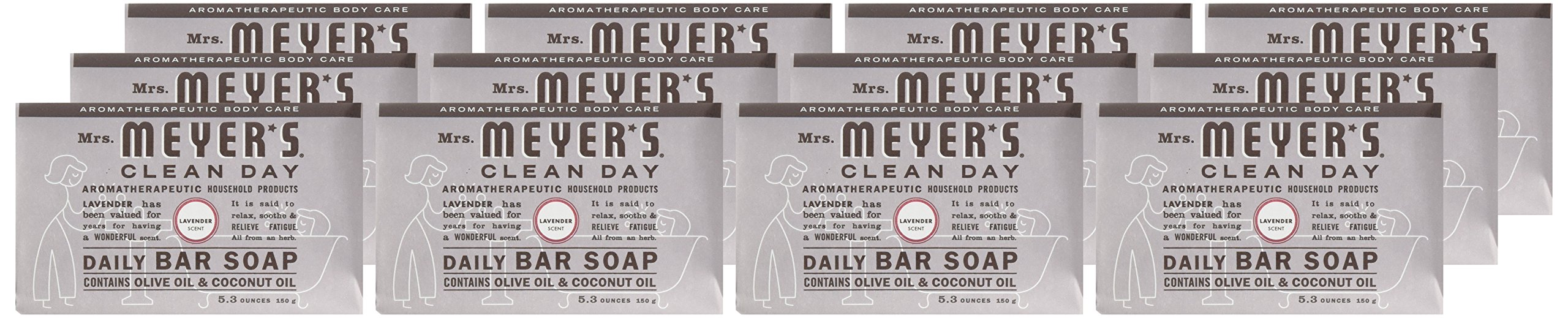 Mrs Meyers Bar Soap Hard 5.3oz Lavender Scent, 12 Count by Mrs. Meyer's Clean Day (Image #2)