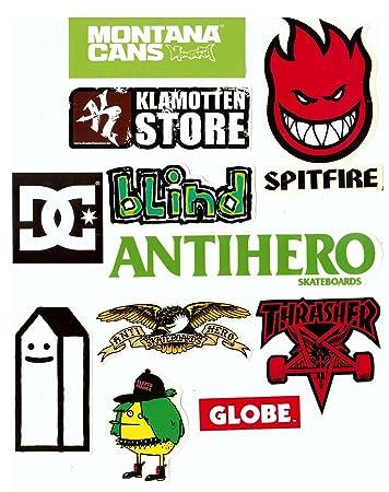 Skate Marken Aufkleber Hipster Mix 10 Sticker Im Set Streng