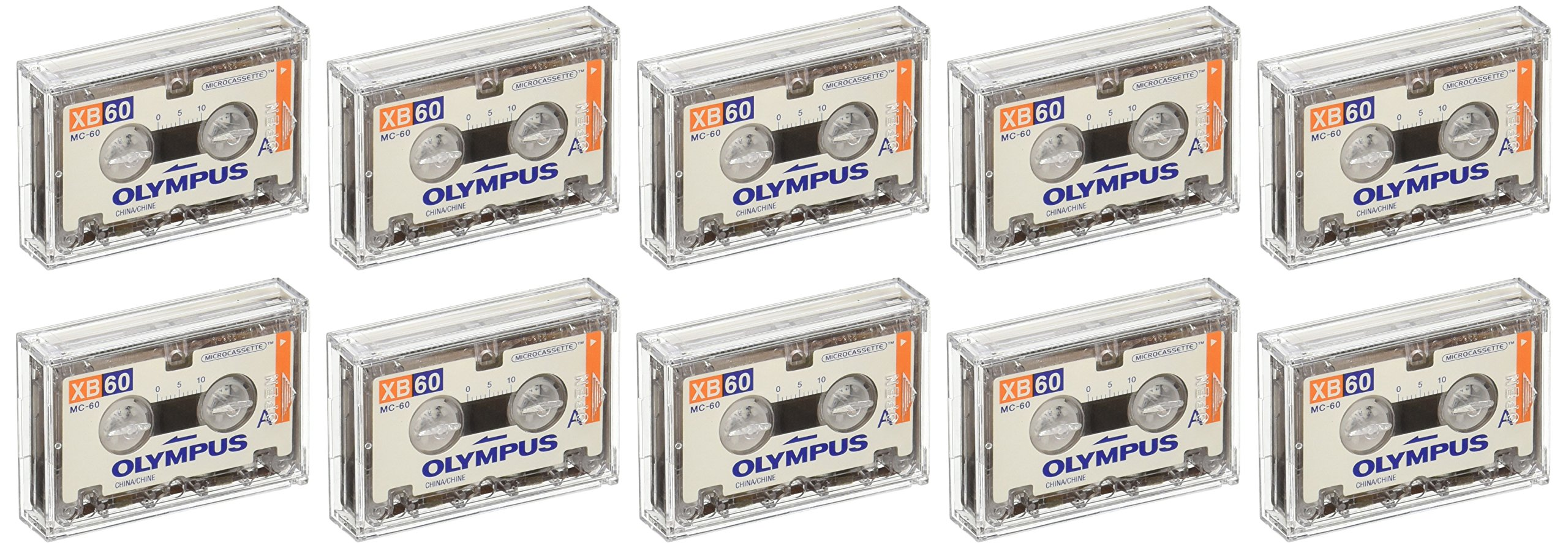 Olympus XB-60 SB / 10 Pack Standard Blank Microcassette Tapes MC-60