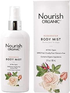 product image for Nourish Organic | Rosewater Body Mist | GMO-Free, Cruelty Free, 100% Vegan (3oz)