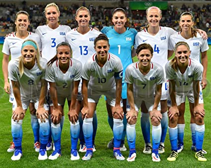 a6b7a6ddd6d Image Unavailable. Image not available for. Color: 2016 USA Womens Olympic  Soccer Rio Brazil 8x10 Team Photo Carli Lloyd Alex Morgan ...