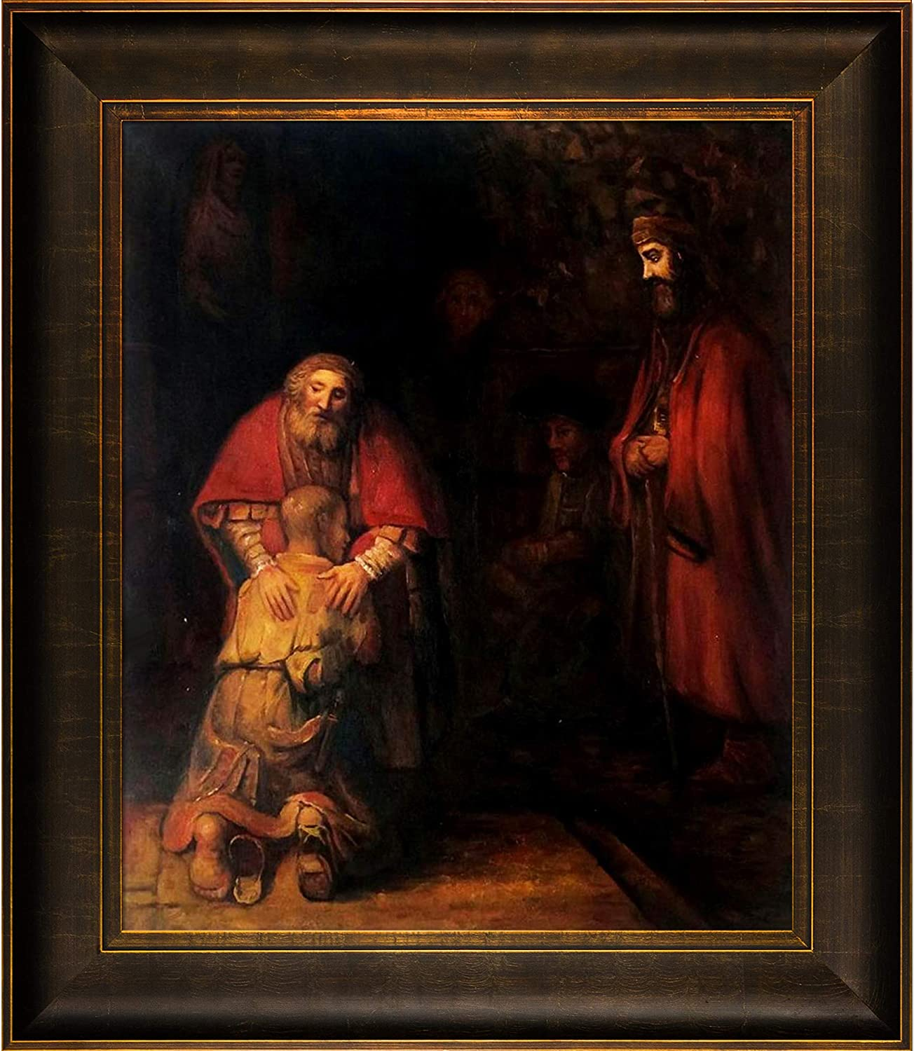 Overstockart Return Of The Prodigal Son By Rembrandt With Veine D Or Bronze Scoop And Bronze And Rich Brown Finish Amazon Co Uk Kitchen Home