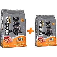 Minino Plus Bundle: 1 Minino Plus 10 kg + 1 Minino Plus 1.3 kg edición especial langosta. La imagen puede variar