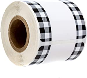 Buffalo Plaid Write On Pantry Labels / 100 Reusable Storage Labels/Organization Labels/Water Resistant/Food & Spice Jar Labels for Pantry Organization