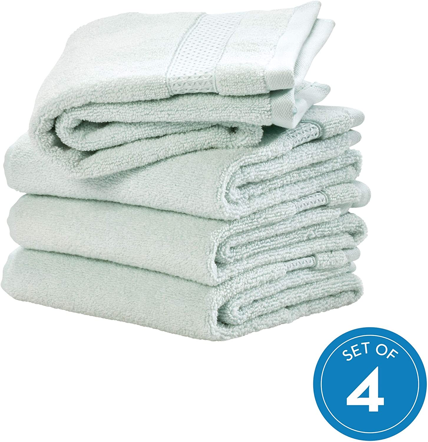 iDesign Spa Hand Towel with Hanging Loop 100/% Cotton Soft Absorbent Machine Was