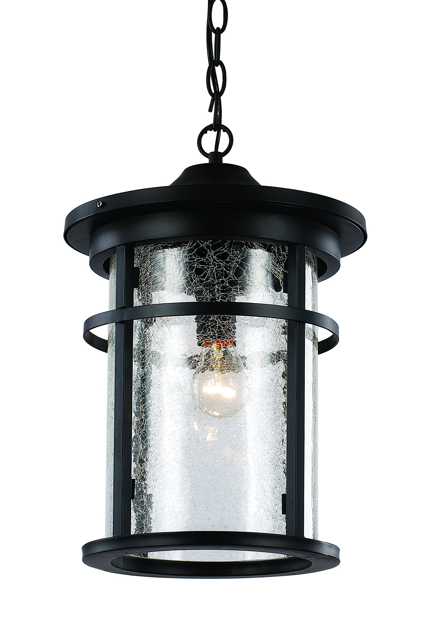 Trans Globe Lighting 40385 BK Outdoor Avalon 13.75'' Hanging Lantern, Black