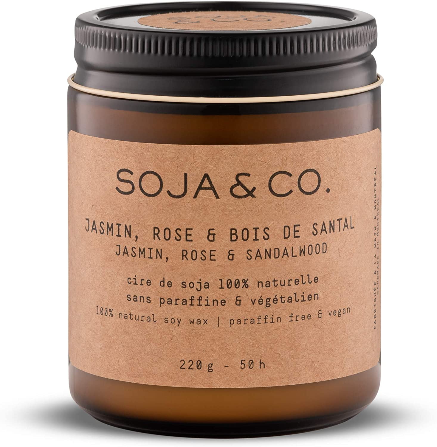 Eucalyptus 4oz SOJA/&CO Long Burning Glass Jar Soy Fragrance Candles Grapefruit Aroma Burns 25 Hours Aromatic Soy Wax Candle in Glass Jar Pamplemousse//Eucalyptus Scented Candles for Home