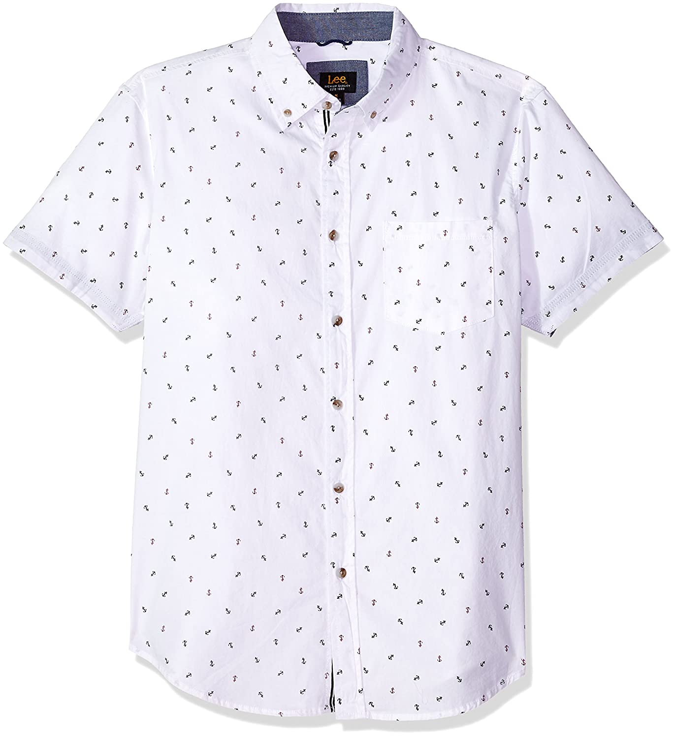 LEE Mens Short Sleeve Pattern Woven