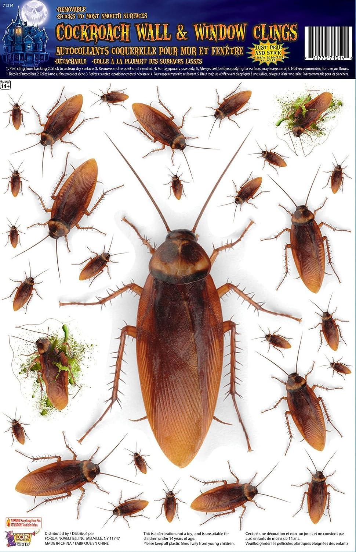 Brown Forum Novelties Cockroach Wall//Window Stickers