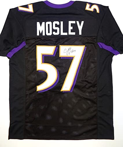 C. J. Mosley Signed / Autographed Black With Purple Pro Style ...