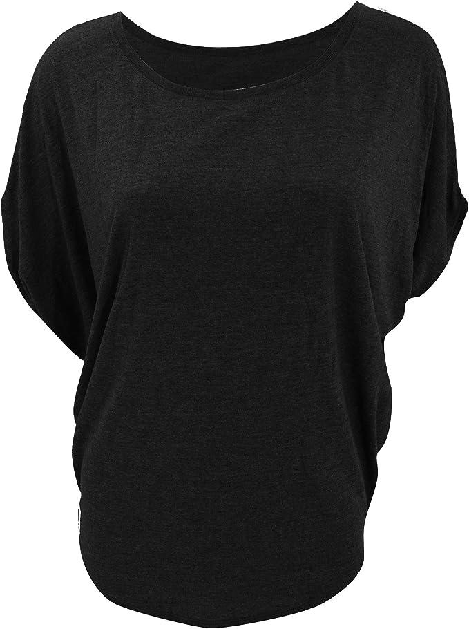 Bella + Canvas- Camiseta Ancha de Manga Corta con Cuello Redondo para Mujer (Pequeña (S)) (Negro): Amazon.es: Ropa y accesorios