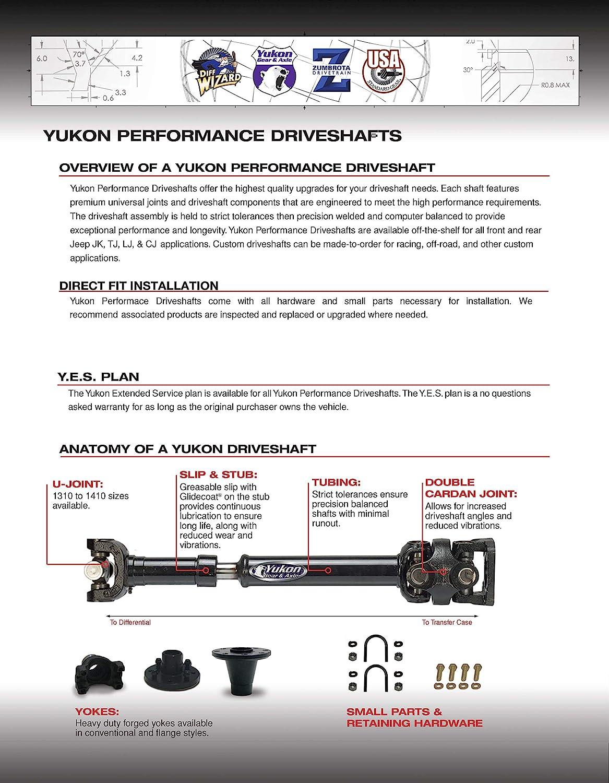 USA Standard Gear ZDS105812 Driveshaft Rear