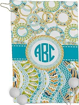Color azul círculos y rayas toalla de Golf - Full Print (personalizado): Amazon.es: Deportes y aire libre