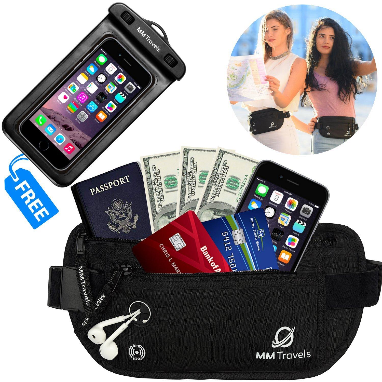 Money Belt For Travel - Passport Keeper - Hidden Belt Travel Wallet - Travel Waist Pack - Travel Money Pouch - Travel Fanny Pack - Travel Belt For Money And Passport