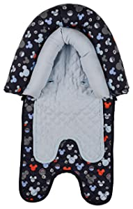 Disney Mickey Mouse Baby Boys Infant Head Support for Car Seats, Strollers & Bouncers, Print, Multi Mickey