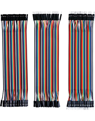 Elegoo EL-CP-004 120pcs Multicolored Dupont Wire 40pin Male to Female, 40pin