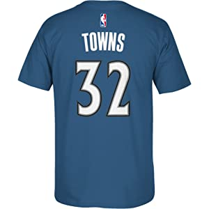 Minnesota Timberwolves Adidas Karl Anthony Towns Gametime HD Blue T Shirt