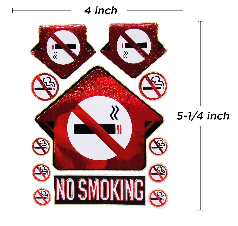 Amazon.com: No fumar prohibido Cartel calcomanía – Dejar de ...