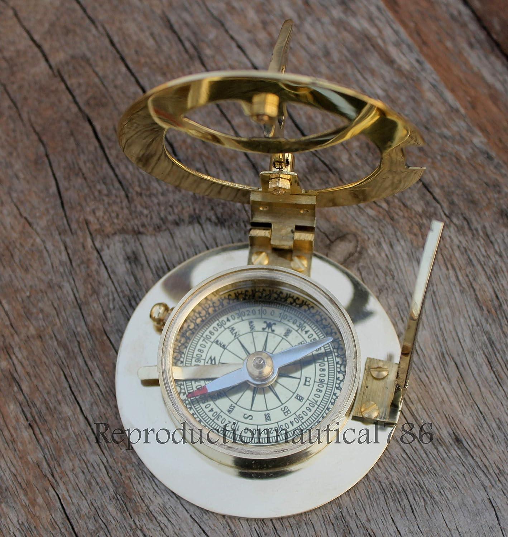ソリッド真鍮コンパスMaritime Nautical Astrolabe Marine Ship InstrumentコンパスG   B0741FS6TR