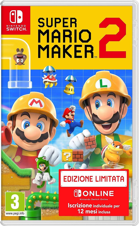 SUPER MARIO MAKER 2 + NSO - Limited - Nintendo Switch [Importación italiana]: Amazon.es: Videojuegos