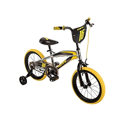 "Amazon.com : 16"" Huffy Kinetic Kid Bike, Yellow w/ Removable Training Wheels : Sports & Outdoors"