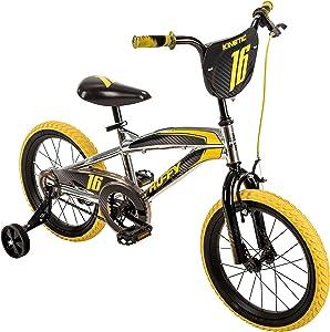 "16"" Huffy Kinetic Kid Bike, Yellow w/ Removable Training Wheels"
