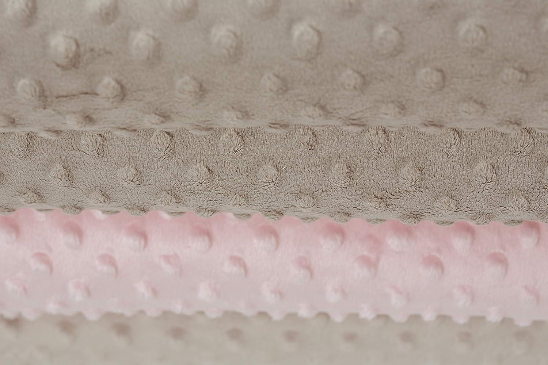 Couverture Minky et coton OEKOTEX fabriqu/ée en Europe Blanc
