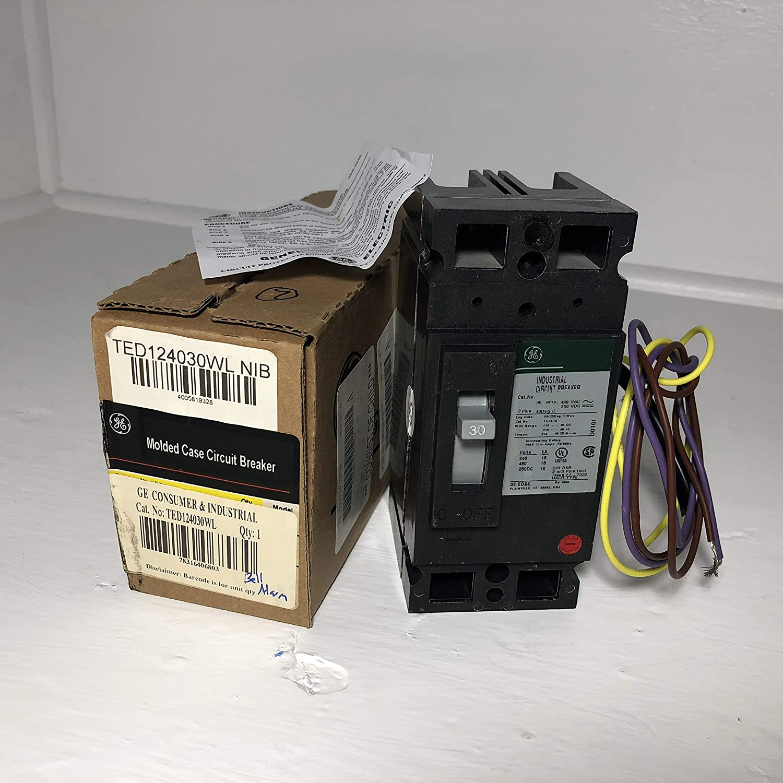 Circuit Breaker 30A 2P 480VAC Lug TED