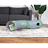 GOHOO PET Cat Tunnels Cats Play Interactive Toys Collapsible Pop-up Pet Tube Hideaway with Plush Ball Pet Tunnels for Cats, P