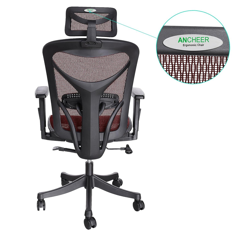 ANCHEER Mount Ergonomic Black Mesh puter fice Chair Shipped