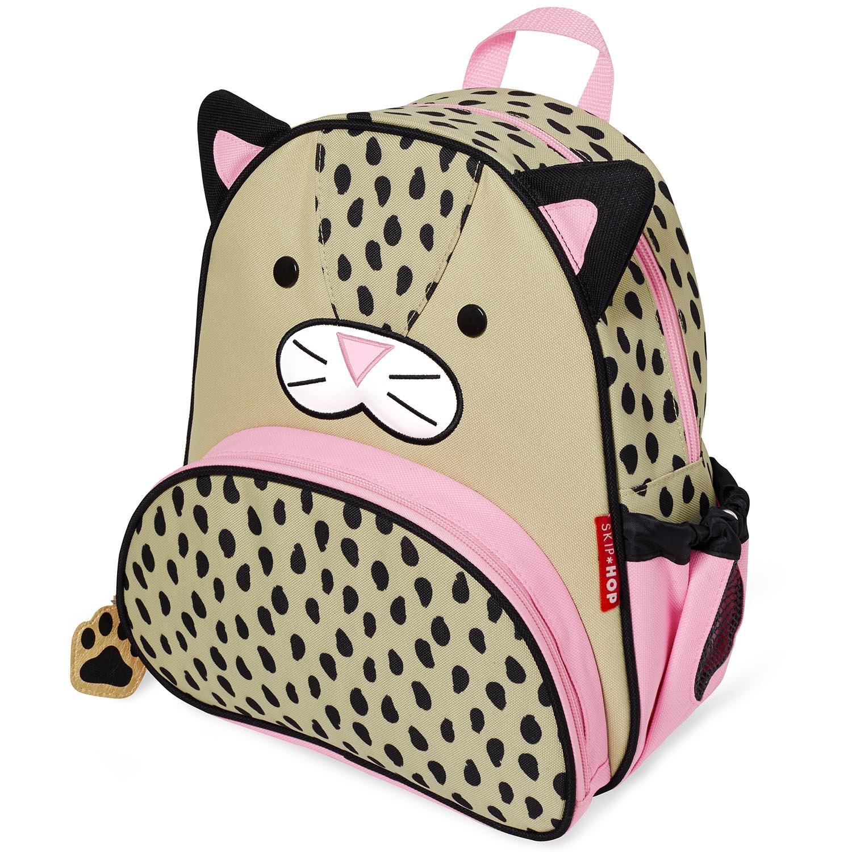 """Skip Hop Toddler Backpack, 12"""" Leopard School Bag, Multi"""
