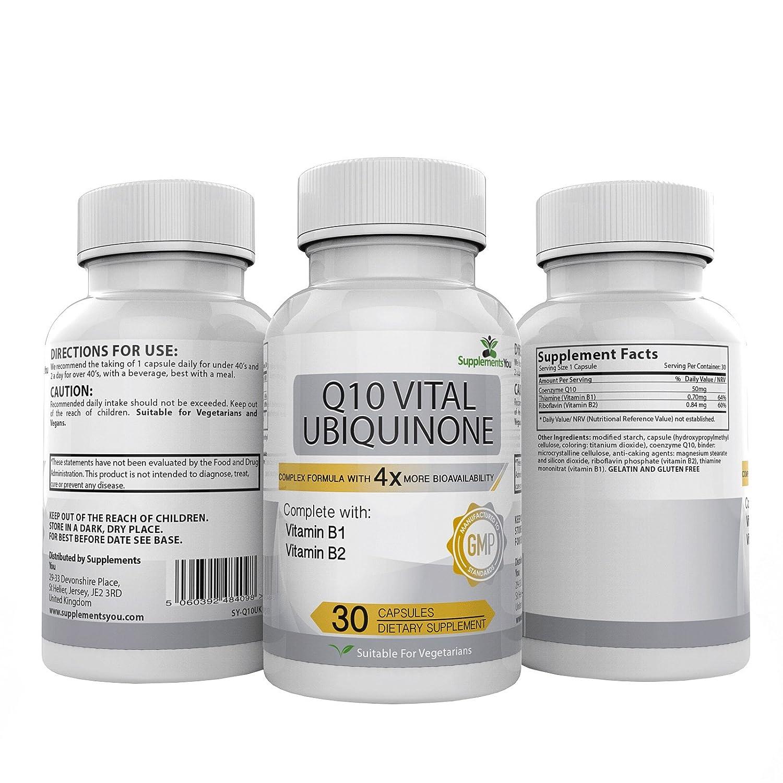 Q10 UBIQUINONA VITAL 200. 30 Suplementos Premium MÁS DE 4 VECES LA BIODISPONIBILIDAD del COQ10 estándar. Excelente para el SISTEMA INMUNE, ANTI ...