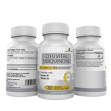 Q10 UBIQUINONA VITAL 200. 30 Suplementos Premium MÁS DE 4 VECES LA BIODISPONIBILIDAD del COQ10