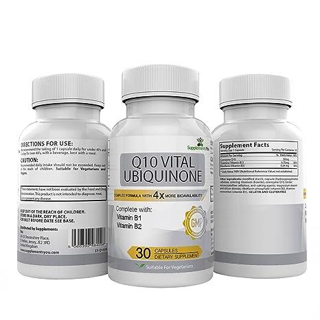 30 Suplementos Premium MÁS DE 4 VECES LA BIODISPONIBILIDAD del COQ10