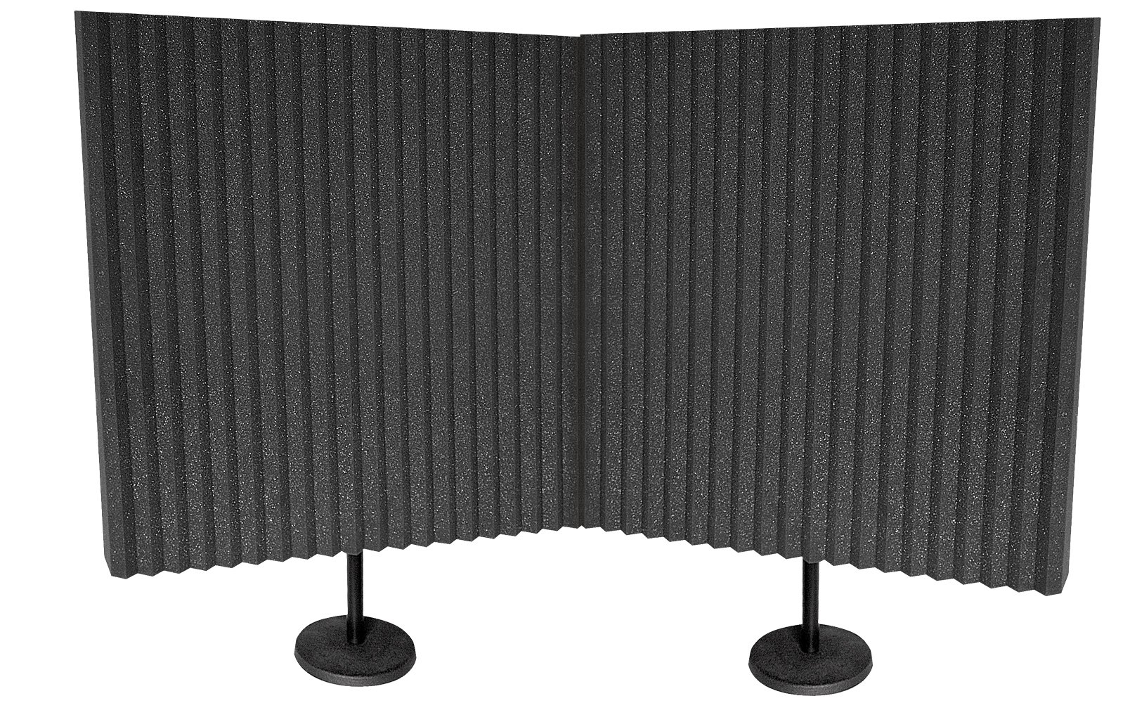 Auralex Acoustics DeskMAX Stand-mounted Portable Acoustic Treatment Panels for Podcasting and Voiceovers