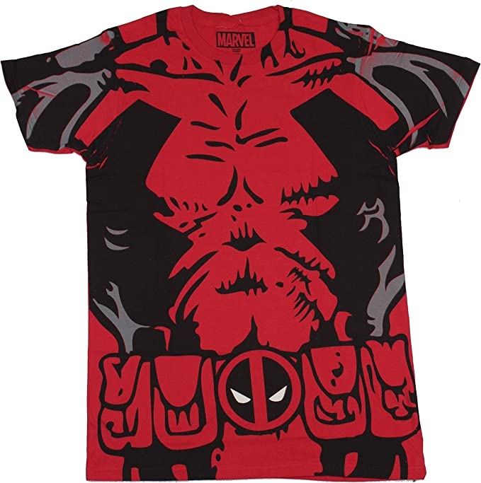 Marvel Deadpool Costume Mens T-shirt L: Amazon.es: Ropa y accesorios