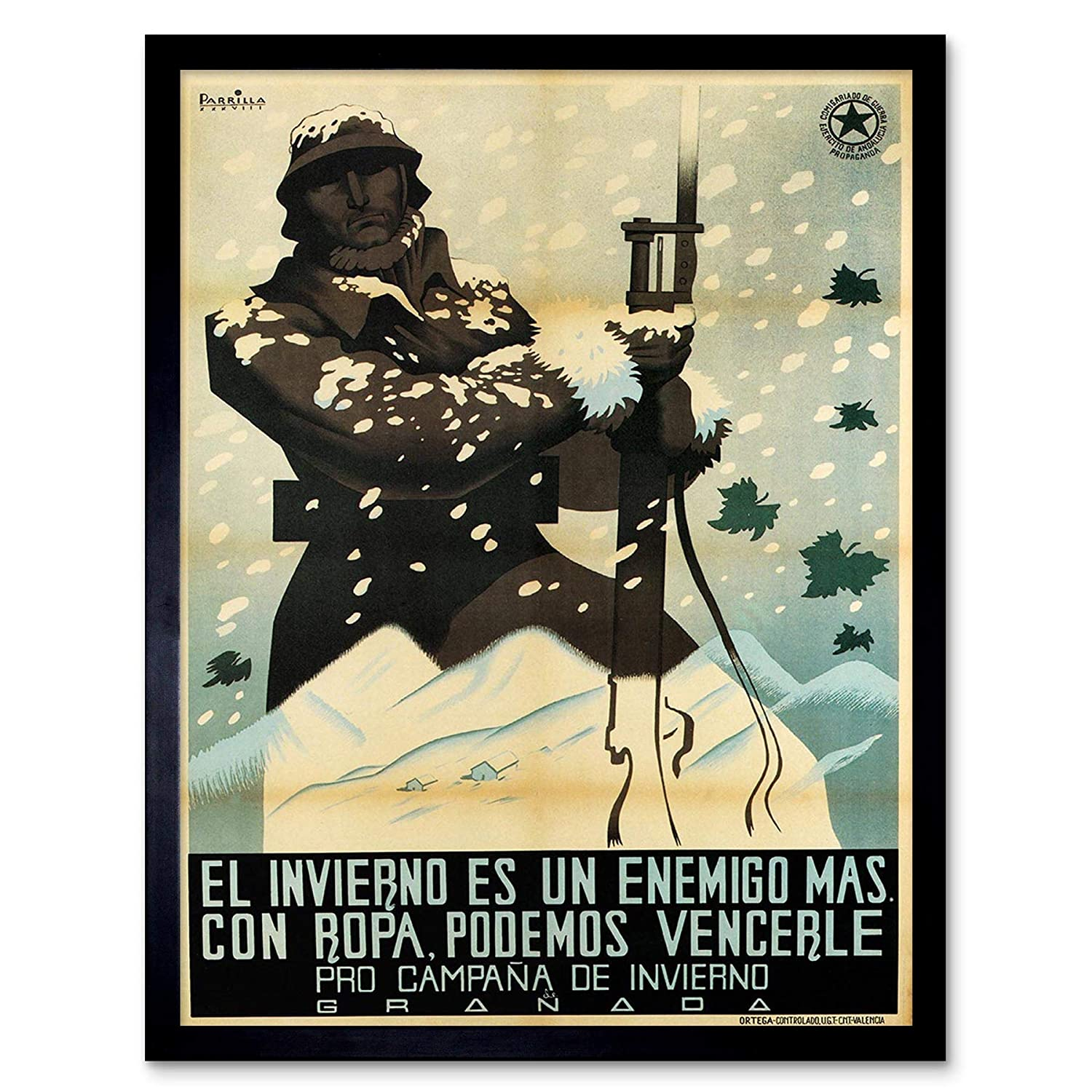 Amazon.com: Wee Blue Coo War Propaganda Spanish Civil Winter ...
